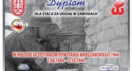 """Zawody """"WHołdzie                 uczestnikom Powstania                                                             Warszawskiego"""